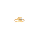 Chevron Solitaire Ring - White Diamond