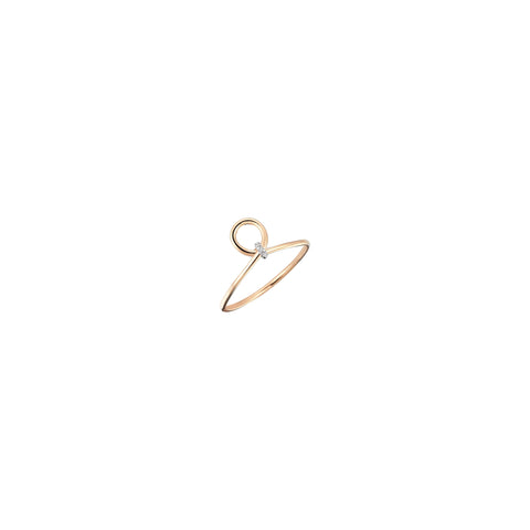 Archer's Knot Pinky Ring - White Diamond