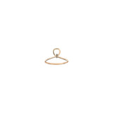Archer's Knot Pinky Ring - Champagne Diamond