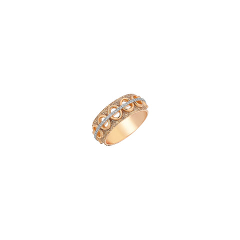 Holey Blade Thin Ring - White Diamond