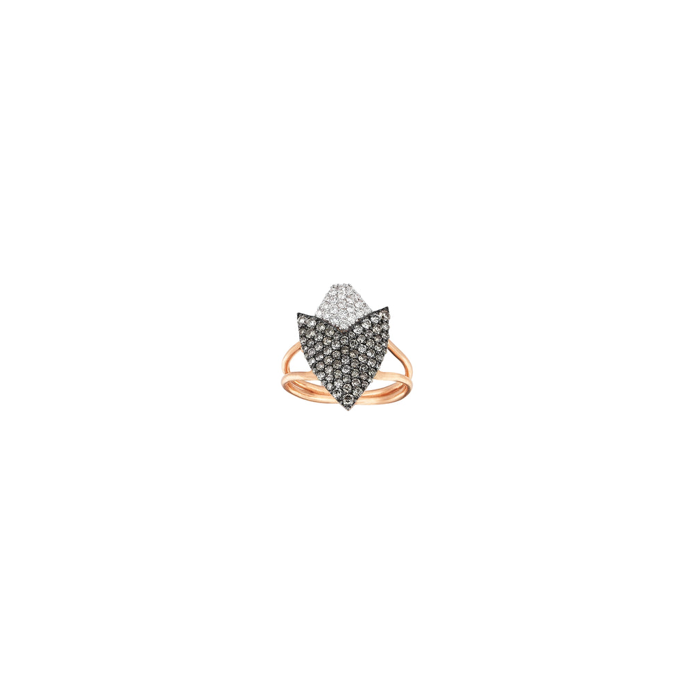 Two-Color Arrowhead Pinky Ring