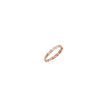 Thin Wire Knit Pinky Ring - Gold