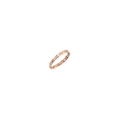 Thin Wire Knit Pinky Ring