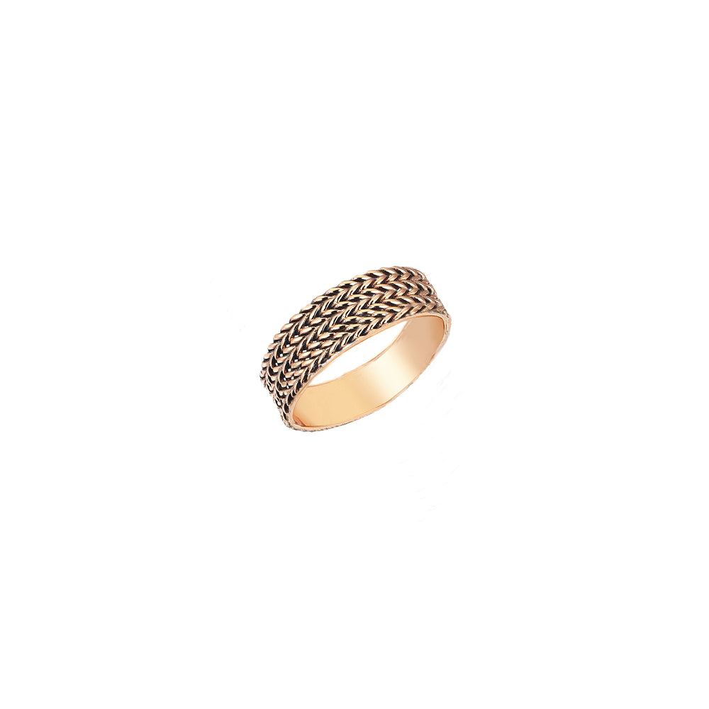 4 Rows Braided Ring - Gold