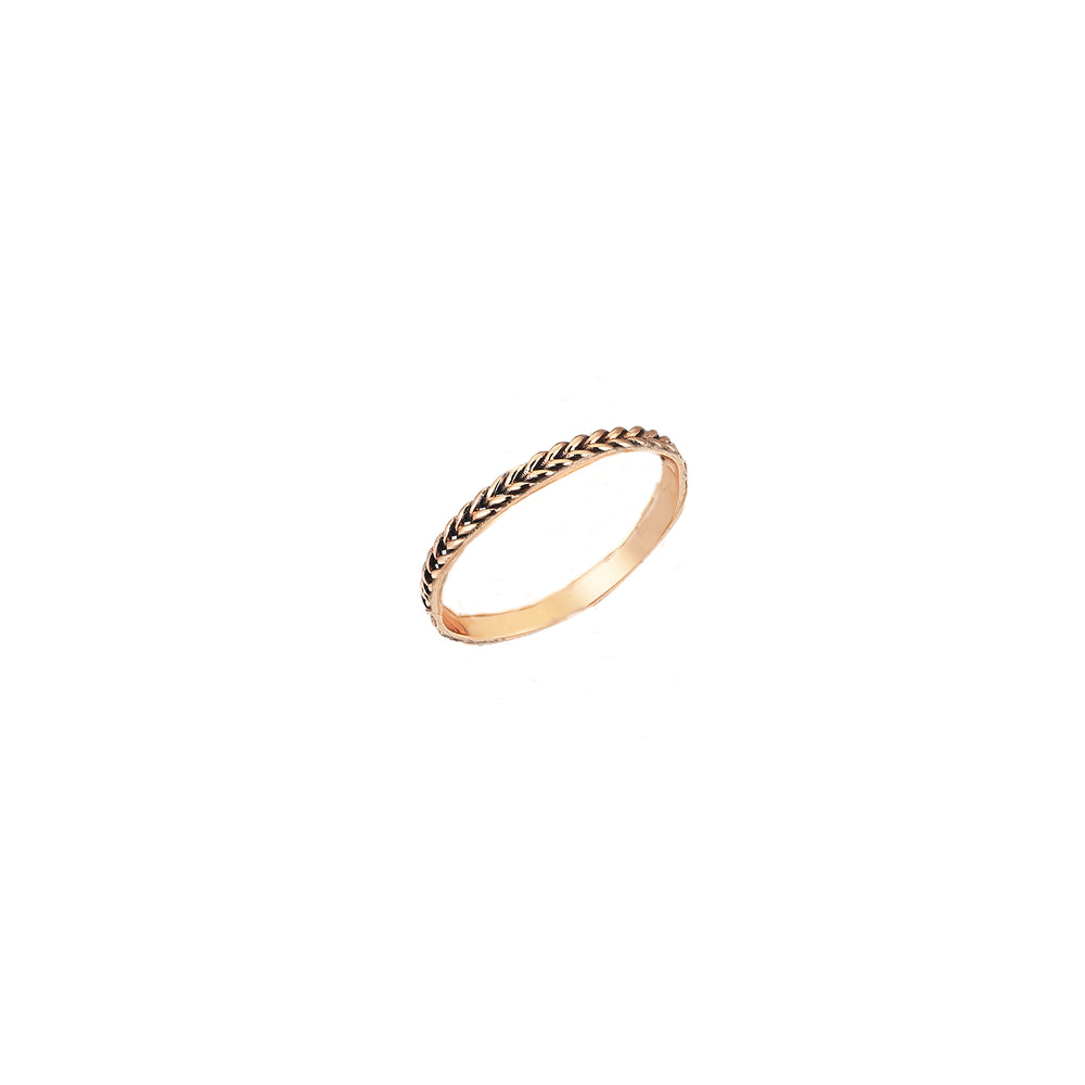 1 Row Braided Ring - Gold