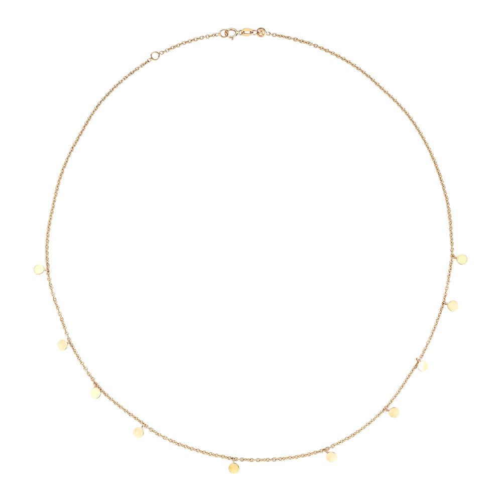 Dangle Circles Necklace - Gold