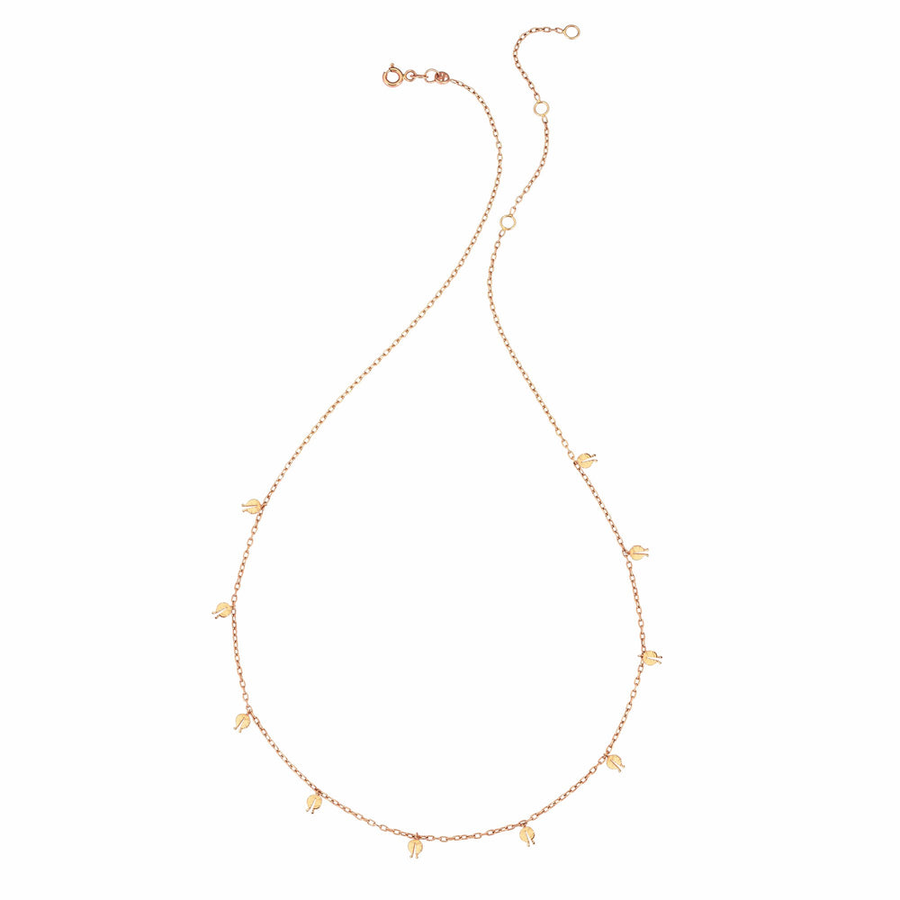 Pomegranate Seed Necklace - Gold