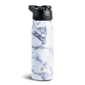 Load image into Gallery viewer, 24 oz Flight - Grey Marble - Manna Hydration