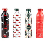 Limited Edition 4 Pack Gift Set of 20 oz Retro - Holiday Cheer - Manna Hydration