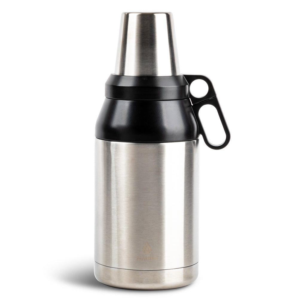 64 oz Stack Growler - Stainless Steel Finish - Manna Hydration