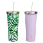 2 pk Chilly Tumbler Palm and Purple - Manna Hydration