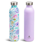 2 pk 20 oz Retro Bottle  Lilac Floral - Manna Hydration