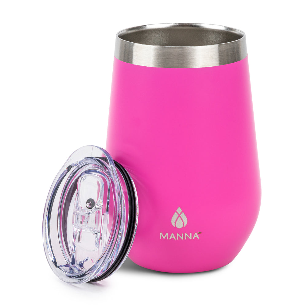 Load image into Gallery viewer, 12 oz  Wine Tumbler Fuchsia Pastel - Manna Hydration