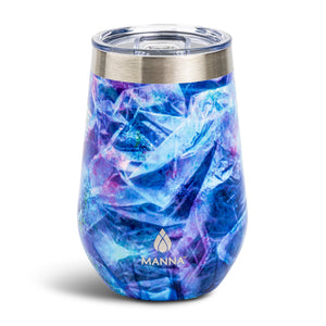 Load image into Gallery viewer, 12 oz  Wine Tumbler Navy Swirl