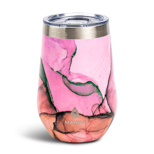 Load image into Gallery viewer, 12 oz  Wine Tumbler Fuchsia Pastel