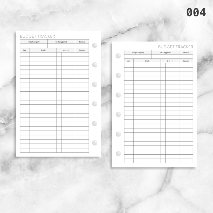 004: Budget Tracker 1PP