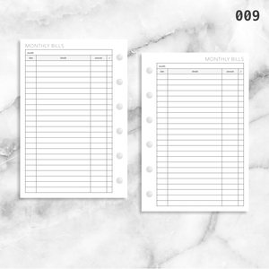 009: Monthly Bills 1PP