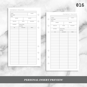 016: Loan / Debt Payment Tracker