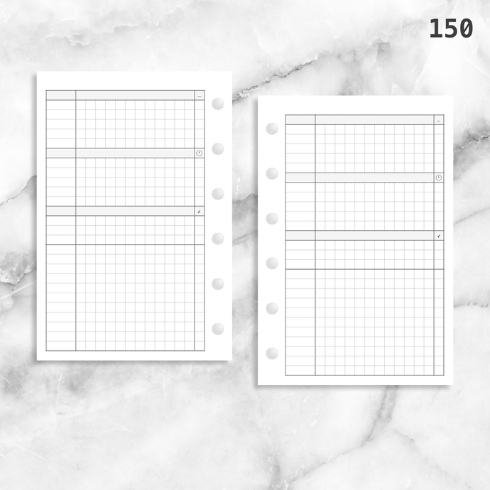 150: Simple Daily Grid w/ Appointments Notes Tasks Categories Do1P