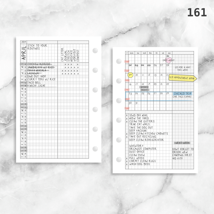 161: Grid Lovers Monthly w/ Daily Habit Tracker Mo2P