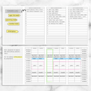 Planning Guide w/ Daily Monthly Weekly Routines & Ideal Timed Schedule