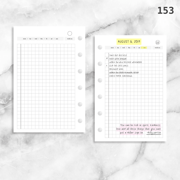 153: Fauxbonichi Inspired Grid Daily Do1P