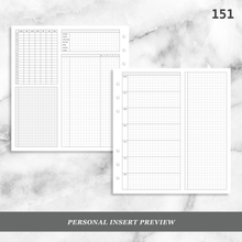 Load image into Gallery viewer, 151: Grid Lovers Foldout Weekly w/ Time Blocking, Daily Habit Tracking, Wo1P, Tasks, Notes