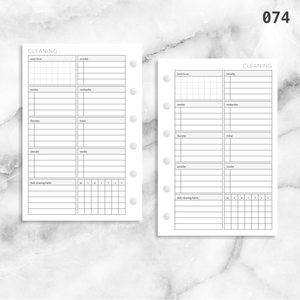 074: Weekly Cleaning Plan w/ Tracker