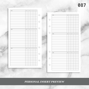 087: Weekly Daily Habit Tracker 3PP