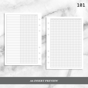 101: Monthly Daily Habit Tracker Mo2P