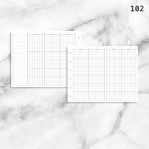 102: Foldout Grid Monthly Mo4P Mo2P