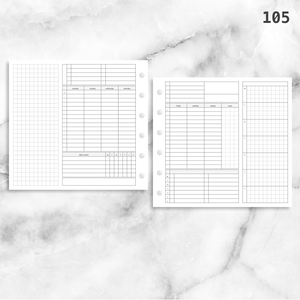 105: Foldout Timed Schedule Weekly Categories w/ Tracker Wo2P