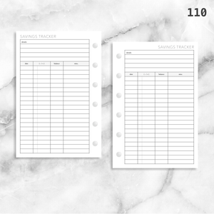 110: Savings Tracker