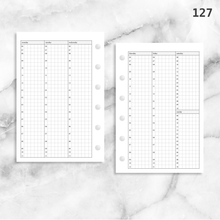 Load image into Gallery viewer, 127: Vertical Weekly Timed Schedule Grid Columns Wo2P
