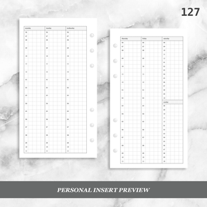 127: Vertical Weekly Timed Schedule Grid Columns Wo2P