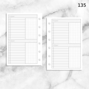 135: Daily Tasks & Grid Notes 2Do1P