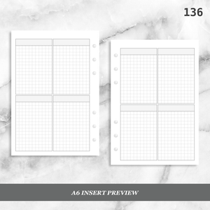 136: Four Horizontal Grid Boxes