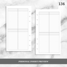 Load image into Gallery viewer, 136: Four Horizontal Grid Boxes