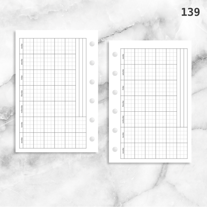 139: Horizontal Monthly Mo1P Grid