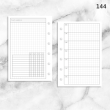 Load image into Gallery viewer, 144: Horizontal Grid Weekly w/ Daily Habit Tracker Wo1P Wo2P