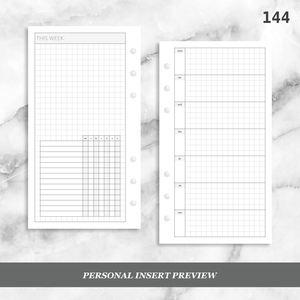 144: Horizontal Grid Weekly w/ Daily Habit Tracker Wo1P Wo2P