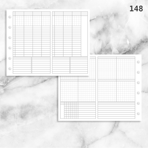 148: Foldout Vertical Weekly Timed Tasks Habit Tracking