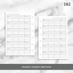 162: AfterPay Payment Tracker