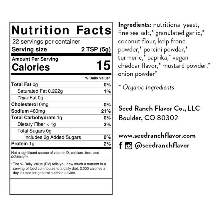 Cheddar Craving nutritional facts and ingredients
