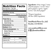 Smoky ghost hot sauce nutrition facts and ingredients