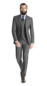 Medium Grey 3-piece Suit