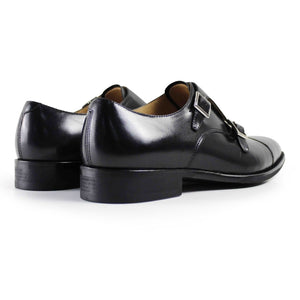Black Calf Double Monk Captoe