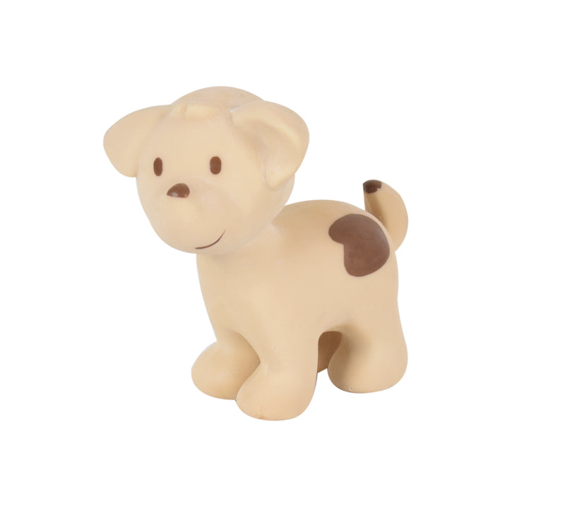 Tikiri Puppy Rubber Teether and Rattle