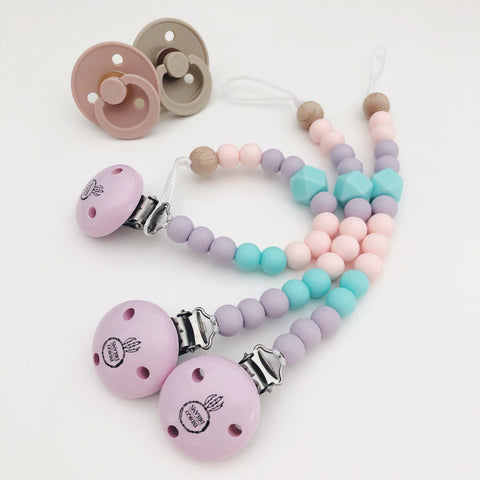 Personalised Silicone Dummy Clip (using various shaped beads)