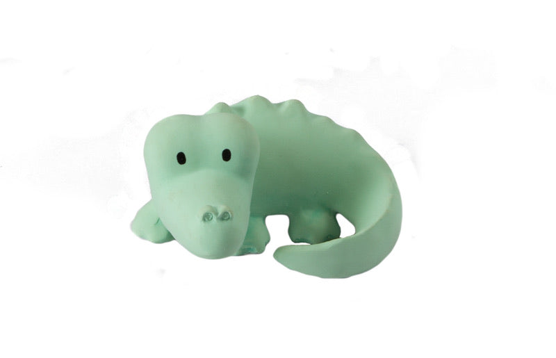 Tikiri Crocodile Rubber Teether and Rattle